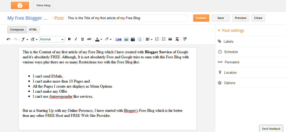 How to start a blog for free 10 for Build blog