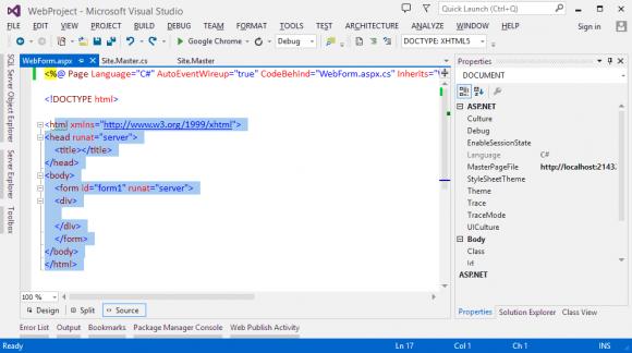 ASP.NET Content Page
