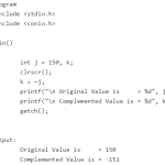 One's Complement Bitwise Operator