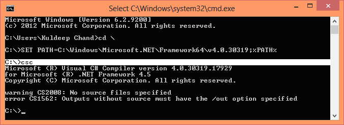 how to set environment variable in windows command prompt