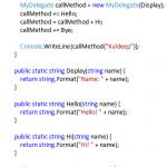 C# Delegate Example