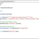C# File – Class