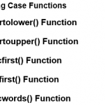 PHP String Case – Functions in PHP