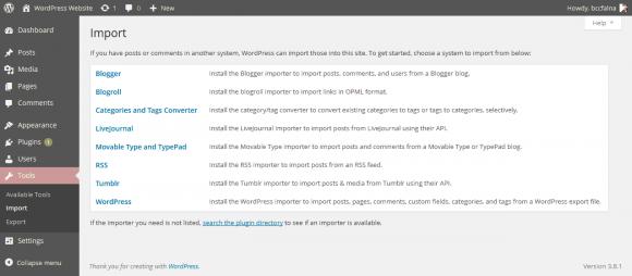 WordPress Tools - Menu Options - Hindi