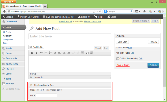 WordPress Meta Box - Add, Get, Save, Delete in Hindi