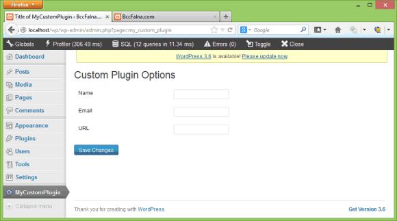 WordPress Settings API - The Options Page in Hindi