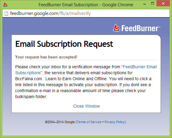FeedBurner Registration Process