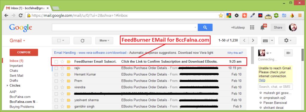 FeedBurner Registration Process
