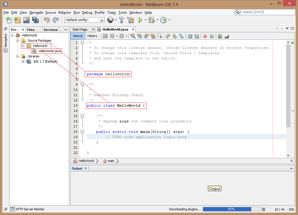How to Compile and Run Java Programs using NetBeans IDE in Hindi