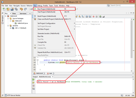Compile and Run Java Programs using NetBeans