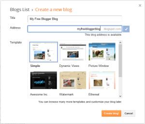 Create Free Blog on Blogger.com