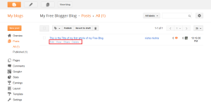 Create Free Blog on Blogger.com
