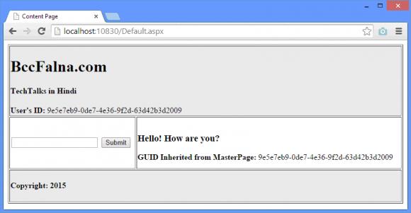 ASP.NET Master Page Controls