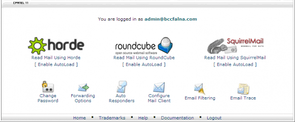 cPanel EMail Management
