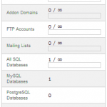 cPanel Stats Bar – The status of your Current Website Usage