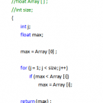 Array with Function in C