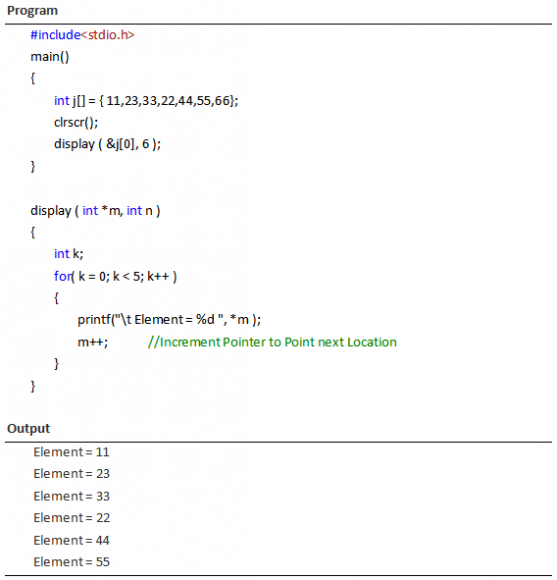 Pointer to Array as Function Argument