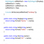 C# Delegate Example - Hindi