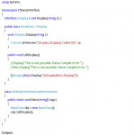 C# Interface Example