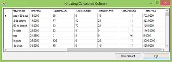 C# Aggregate Calculations - Hindi
