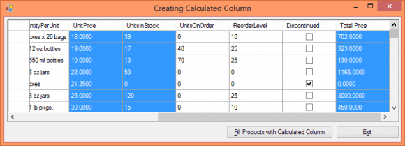 C# DataTable Compute Column Addition - Hindi