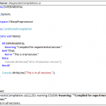 C# Diagnostic Directives