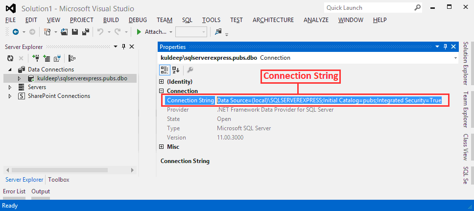 How to write a connection string