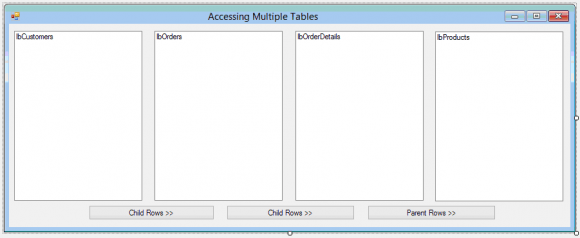 Parent Child Relationship in SQL for C# DataTables Hindi