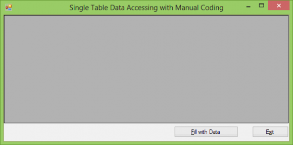 SqlDataAdapter Example in C# - Manual Code - Hindi