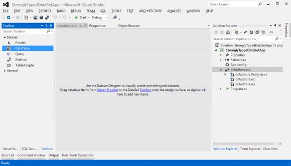 Strongly Typed Language - ADO.NET DataSet - Hindi