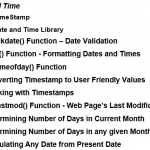 PHP Date Time Functions