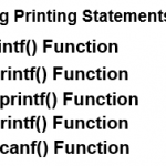 PHP String Functions – Printing Statements