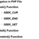 File Navigation PHP Functions