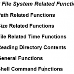 File System Functions in PHP