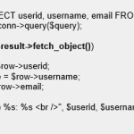 PHP Query Result Parsing