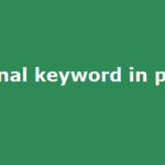 final Keyword in PHP