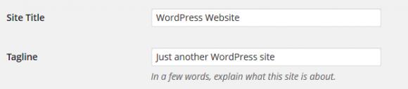 WordPress General Settings - Hindi