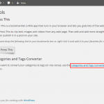 WordPress Tools – Menu Options