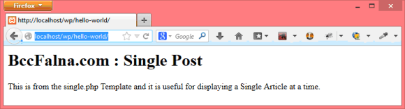 Single Post Template WordPress - Hindi