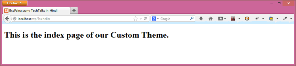 WordPress Front Page Template - Hindi