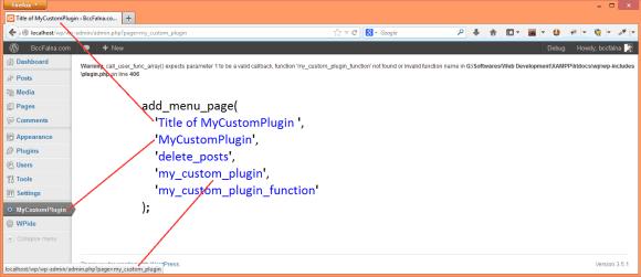WordPress Admin Menu - Hindi