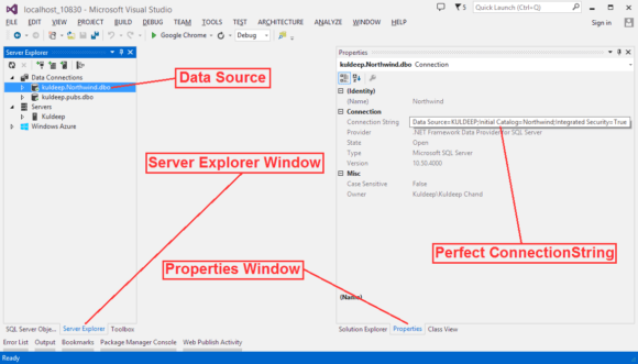 ADO NET Connection Creation with Database in ASP NET Application