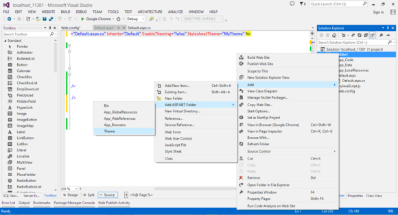Creating Themes in ASP.NET - WebForms in Hindi
