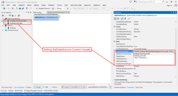 SqlDataSource Control in ASP.NET - Hindi