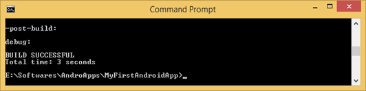 How to Build an Android App using Command Tools