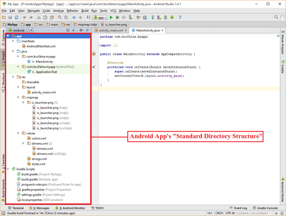 How to Create a New Project in Android Studio - ITeBooks