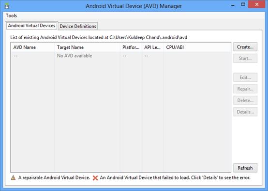 Setup Android Emulator - Step by Step - ITeBooks