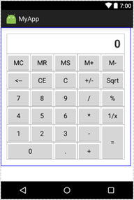 Android GridLayout - Simple Example - ITeBooks in Hindi