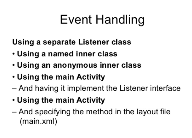 Event Handler Implementation Within Activity Class Itebooks In