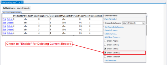 Record Deleting in ASP.NET Project - CRUID Operations in Hindi